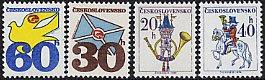 チェコ・郵便のモチーフ・切手・1974(4)