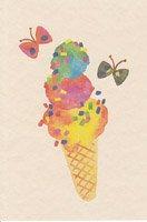 ポストカード・アイスクリーム