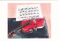 ポストカード・デュフィ・ポストカード・赤のバイオリン