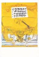 ポストカード・デュフィ・ポストカード・黄色のバイオリン