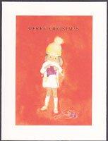 クリスマスカード・ちひろ・編み物