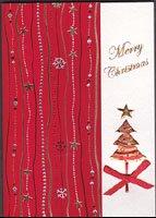 イタリア製・クリスマスカード・レッド