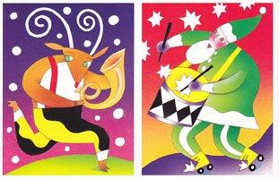 USA・クリスマスの音楽隊・ポストカード・4枚セット