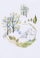 Kaori Ishizaka・クリスマスポストカード・天使と森
