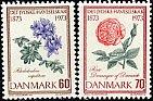 デンマークの切手・花・1973(2)