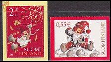 フィンランドの切手・クリスマス・2011(2)セルフ糊