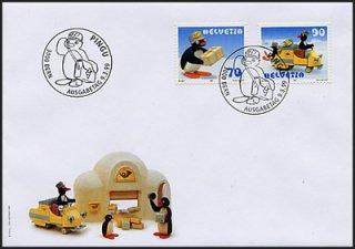 スイスの切手・ピングー・FDC・1999