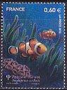 フランスの切手・自然シリーズ・熱帯魚・2012