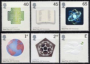イギリスの切手・ノーベル賞100年・2001(6)
