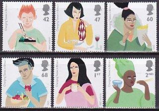 イギリスの切手・ヨーロッパ・食・2005(6)