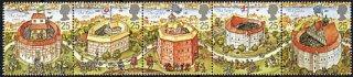 イギリスの切手・シェークスピア劇場・1995(5)