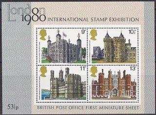 イギリスの切手・ロンドン国際切手展一次・小型シート・1978