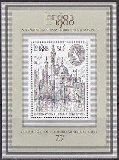 イギリスの切手・ロンドン国際切手展1980三次・小型シート・1980