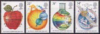 イギリスの切手・ニュートンのプリンシピア・1987(4)