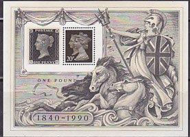イギリスの切手・ロンドン国際切手展・三次・1990・小型シート