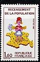 フランスの切手・国勢調査・1982