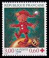 フランスの切手・赤十字・玉乗り・1998
