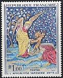フランスの切手・つづれ織・黙示録・1965