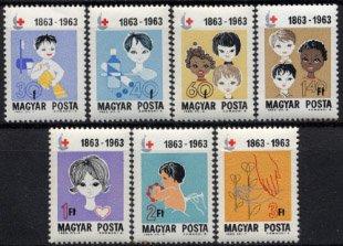 ハンガリーの切手・赤十字100年・1963(7)