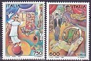 イタリアの切手・サーカス・1994(2)