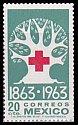 メキシコの切手・赤十字100年・1963