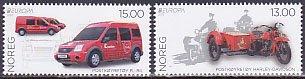 ノルウェーの切手・ヨーロッパ・郵便車・2013(2)