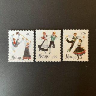 ノルウェーの切手・フォークダンス・1976(3)
