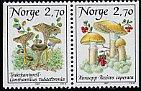 ノルウェーの切手・マッシュルーム・1987(2)