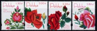 ポーランドの切手・バラの刺繍・2006(4)