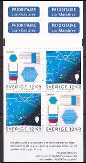 スウェーデン・ヨーロッパ切手・天文・切手帳2009