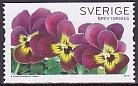 スウェーデンの切手・パンジー・2010