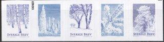 スウェーデン・冬の樹木・切手・2015(5)セルフ糊