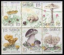 スウェーデンの切手・マッシュルーム・1976(6)