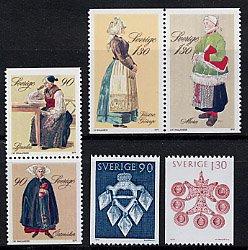 スウェーデンの切手・民族衣装・1979(6)