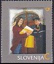 スロベニア・Pスタンプ・電報・切手・2011(セルフ糊)