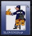 スロベニア・郵便配達・切手・2007・セルフ糊