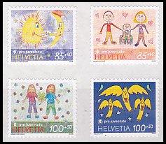 スイス・冬季慈善・友情・切手・2008(4)セルフ糊