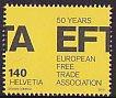 スイスの切手・EFTA50年・2010