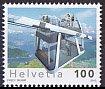 スイス・ケーブルカー・切手・2012