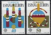 スペインの切手・ヨーロッパ・TOYS・1989(2)