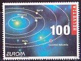 スイス・ヨーロッパ切手・天文・2009