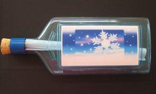 フィンランド・ボトルポスト・雪の結晶