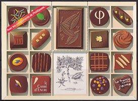 フランス郵政発行・チョコレートシート