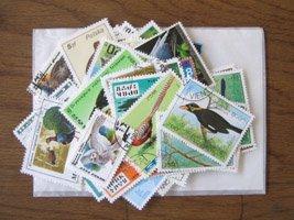 パケット切手・鳥・約100枚