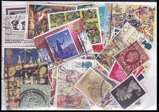 パケット切手・イギリス・50枚(小型も含む)