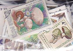 きのこの切手・パケット約100枚