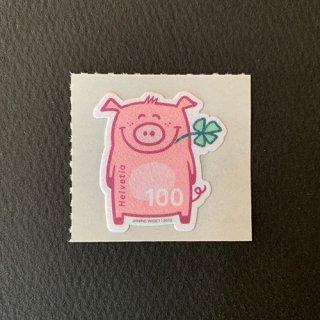 スイスの切手・幸運のぶた・2019・セルフ糊