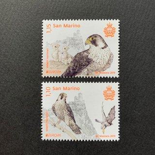 サンマリノ・ヨーロッパ切手・国鳥・2019(2)