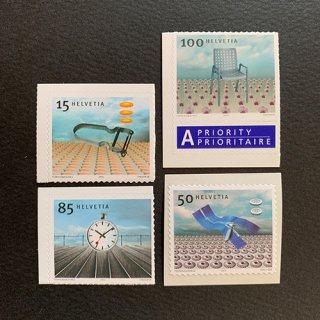 スイスの切手・デザイン・2000(4)セルフ糊