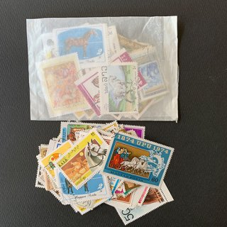 馬のパケット切手・約  100枚